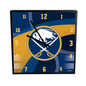 Buffalo Sabres Carbon Fiber 12in Square Clock