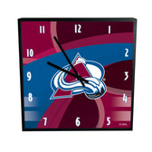 Colorado Avalanche Carbon Fiber 12in Square Clock