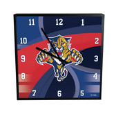 Florida Panthers Carbon Fiber 12in Square Clock