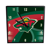 Minnesota Wild Carbon Fiber 12in Square Clock