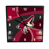 Phoenix Coyotes Carbon Fiber 12in Square Clock
