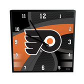 Philadelphia Flyers Carbon Fiber 12in Square Clock