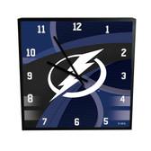 Tampa Bay Lightning Carbon Fiber 12in Square Clock