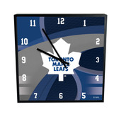 Toronto Maple Leafs Carbon Fiber 12in Square Clock