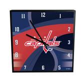 Washington Capitals Carbon Fiber 12in Square Clock