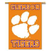 "Clemson Tigers 2-Sided 28"" X 40"" Banner W/ Pole Sleeve"