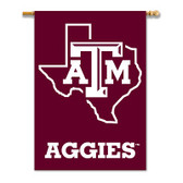 "Texas A&M Aggies 2-Sided 28"" X 40"" Banner W/ Pole Sleeve"