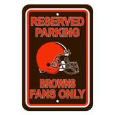 Cleveland Browns Plastic Parking Sign - Reserved Parking
