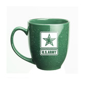 US Army Deep Etched 15oz Green Bistro Mug