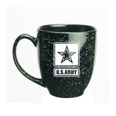 US Army Deep Etched 15oz Black Bistro Mug