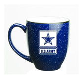 US Army Deep Etched 15oz Cobalt Bistro Mug