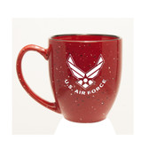US Air Force Deep Etched 15oz Red Bistro Mug