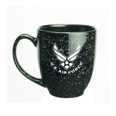 US Air Force Deep Etched 15oz Black Bistro Mug