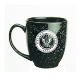 US Navy Deep Etched 15oz Black Bistro Mug