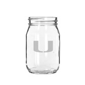 Miami Hurricane 16 oz. Old Fashion Drinking Jar