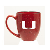 Miami Hurricanes 15 oz. Deep Etched Red Bistro Mug