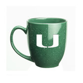 Miami Hurricanes 15 oz. Deep Etched Green Bistro Mug