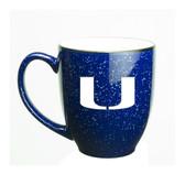 Miami Hurricanes 15 oz. Deep Etched Cobalt Bistro Mug