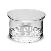 Notre Dame Fighting Irish 5 Inch Deep Etched Flair Crystal Candy Bowl