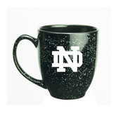 Notre Dame Fighting Irish 15 oz. Deep Etched Black Bistro Mug