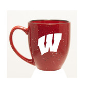 Wisconsin Badgers 15 oz. Deep Etched Red Bistro Mug