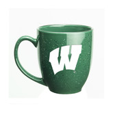 Wisconsin Badgers 15 oz. Deep Etched Green Bistro Mug
