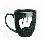 Wisconsin Badgers 15 oz. Deep Etched Black Bistro Mug