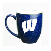 Wisconsin Badgers 15 oz. Deep Etched Cobalt Bistro Mug