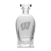 Wisconsin Badgers 23.75 oz.  Deep Etched Rossini Decanter