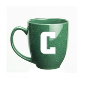 Columbia University 15 oz. Deep Etched Green Bistro Mug
