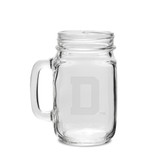Dartmouth College 16 oz. Deep Etched Old Fashion Drinking Jar with Handle