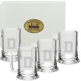 Dartmouth College Deep Etched Colonial Tankard Set of 4