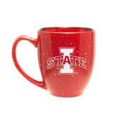 Iowa State Cyclones 15 oz. Deep Etched Red Bistro Mug