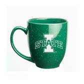 Iowa State Cyclones 15 oz. Deep Etched Green Bistro Mug