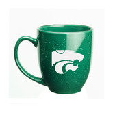 Kansas State Wildcats 15 oz. Deep Etched Green Bistro Mug