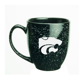 Kansas State Wildcats 15 oz. Deep Etched Black Bistro Mug