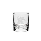 Memphis Tigers 10.5 oz. Deep Etched Football Deep Etched Double Old Fashion Glass
