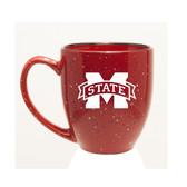 Mississippi State Bulldogs 15 oz. Deep Etched Red Bistro Mug