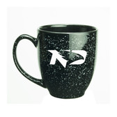 North Dakota Sioux 15 oz. Deep Etched Black Bistro Mug