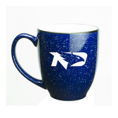North Dakota Sioux 15 oz. Deep Etched Cobalt Bistro Mug