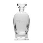 Penn Quakers 23.75 Deep Etched Rossini Decanter