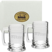 Penn Quakers Deep Etched Colonial Tankard Set of 2