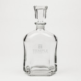 Temple Owls Deep Etched Whiskey Decanter