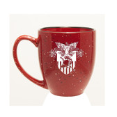 West Point 15 oz. Deep Etched Red Bistro Mug