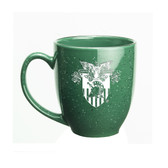 West Point 15 oz. Deep Etched Green Bistro Mug