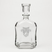 West Point Deep Etched Whiskey Decanter