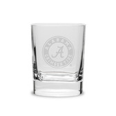 Alabama Crimson Tide 11.75 oz. Deep Etched Double Old Fashion Glass