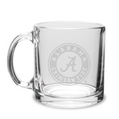Alabama Crimson Tide 13 oz. Deep Etched Clear Glass Coffee Mug