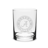 Alabama Crimson Tide 14 oz. Deep Etched Double Old Fashion Glass