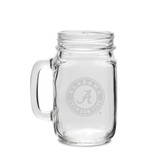 Alabama Crimson Tide 16 oz. Deep Etched Old Fashion Drinking Jar with Handle